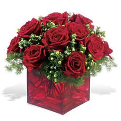 Düzce çiçek siparişi vermek  9 adet kirmizi gül cam yada mika vazoda