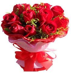 9 adet kirmizi güllerden kipkirmizi buket  Düzce çiçek mağazası , çiçekçi adresleri