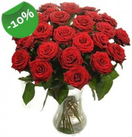 Vazo içerisinde 25 adet kırmızı gül  Düzce online çiçekçi , çiçek siparişi