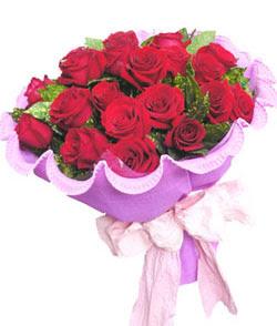 12 adet kırmızı gülden görsel buket  Düzce hediye sevgilime hediye çiçek