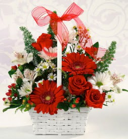 Karışık rengarenk mevsim çiçek sepeti  Düzce kaliteli taze ve ucuz çiçekler
