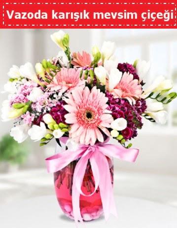 Vazoda karışık mevsim çiçeği  Düzce uluslararası çiçek gönderme