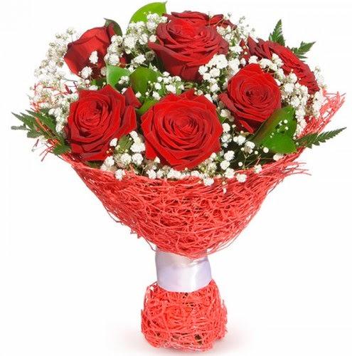7 adet kırmızı gül buketi  Düzce çiçek mağazası , çiçekçi adresleri
