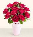 Düzce anneler günü çiçek yolla  10 kirmizi gül cam yada mika vazo tanzim