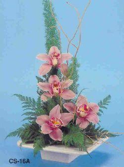 Düzce cicek , cicekci  vazoda 4 adet orkide