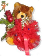 oyuncak ayi ve gül tanzim  Düzce çiçek mağazası , çiçekçi adresleri