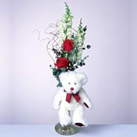 2 adet gül ve panda özel  Düzce hediye sevgilime hediye çiçek