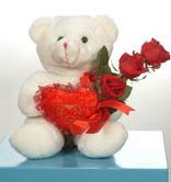 3 adetgül ve oyuncak   Düzce çiçek siparişi sitesi