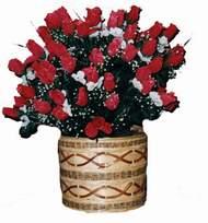 yapay kirmizi güller sepeti   Düzce ucuz çiçek gönder