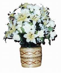 yapay karisik çiçek sepeti   Düzce çiçek , çiçekçi , çiçekçilik