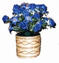 yapay mavi çiçek sepeti  Düzce çiçek yolla , çiçek gönder , çiçekçi