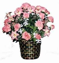 yapay karisik çiçek sepeti  Düzce çiçekçi telefonları