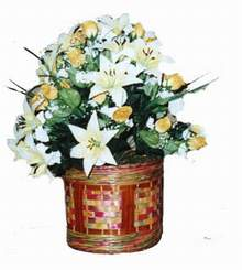 yapay karisik çiçek sepeti   Düzce çiçek yolla , çiçek gönder , çiçekçi