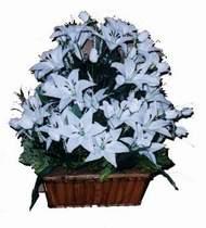 yapay karisik çiçek sepeti   Düzce yurtiçi ve yurtdışı çiçek siparişi