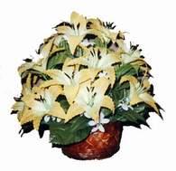 yapay karisik çiçek sepeti   Düzce çiçek online çiçek siparişi