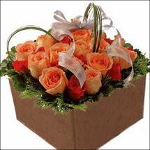 kare sandikta 11 gülllerden   Düzce hediye sevgilime hediye çiçek
