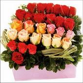 15 adet renkli gül ve cam   Düzce hediye sevgilime hediye çiçek