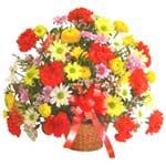 karisik renkli çiçek sepet   Düzce internetten çiçek siparişi