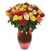 51 adet gül ve kaliteli vazo   Düzce internetten çiçek siparişi
