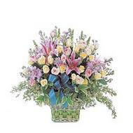 sepette kazablanka ve güller   Düzce online çiçek gönderme sipariş