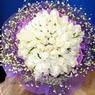 71 adet beyaz gül buketi   Düzce uluslararası çiçek gönderme