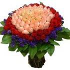 71 adet renkli gül buketi   Düzce 14 şubat sevgililer günü çiçek