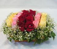 15 adet reprenkli gül sepeti   Düzce çiçek siparişi vermek