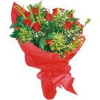 10 adet kirmizi gül buketi  Düzce çiçek siparişi vermek