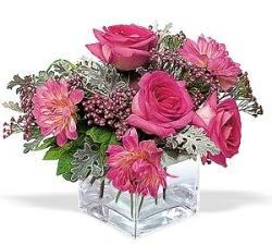 Düzce çiçek yolla , çiçek gönder , çiçekçi   cam içerisinde 5 gül 7 gerbera çiçegi