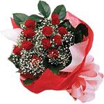 Düzce çiçek servisi , çiçekçi adresleri  KIRMIZI AMBALAJ BUKETINDE 12 ADET GÜL