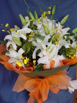 Düzce çiçek servisi , çiçekçi adresleri  5 ADET KAZABLANKA BUKETI KALITEDEN SASMAYANLARA
