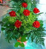 6 adet kirmizi gül buketi   Düzce yurtiçi ve yurtdışı çiçek siparişi