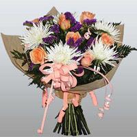 güller ve kir çiçekleri demeti   Düzce çiçek mağazası , çiçekçi adresleri