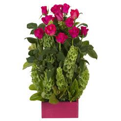 12 adet kirmizi gül aranjmani  Düzce çiçek , çiçekçi , çiçekçilik