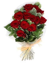 Düzce internetten çiçek satışı  9 lu kirmizi gül buketi.
