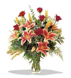 Düzce çiçek satışı  Pembe Lilyum ve Gül