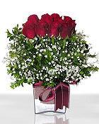 Düzce uluslararası çiçek gönderme  11 adet gül mika yada cam - anneler günü seçimi -