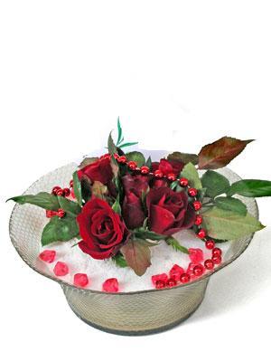 Düzce güvenli kaliteli hızlı çiçek  EN ÇOK Sevenlere 7 adet kirmizi gül mika yada cam tanzim