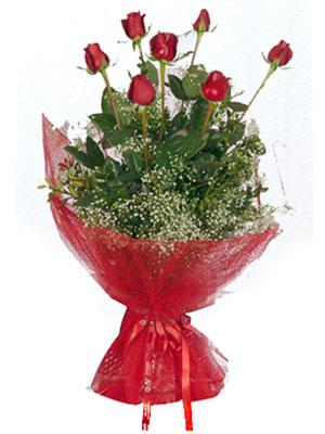 Düzce çiçek satışı  7 adet gülden buket görsel sik sadelik