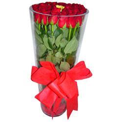 Düzce çiçekçi telefonları  12 adet kirmizi gül cam yada mika vazo tanzim