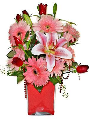Düzce online çiçekçi , çiçek siparişi  karisik cam yada mika vazoda mevsim çiçekleri mevsim demeti