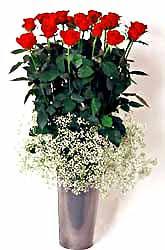 Düzce online çiçekçi , çiçek siparişi  9 adet kirmizi gül cam yada mika vazoda