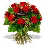 9 adet kirmizi gül ve kir çiçekleri  Düzce çiçek servisi , çiçekçi adresleri