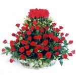 Düzce ucuz çiçek gönder  41 adet kirmizi gülden sepet tanzimi