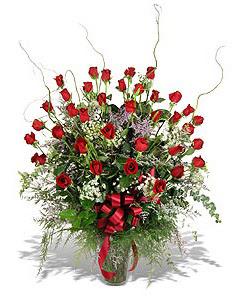 Düzce çiçek online çiçek siparişi  33 adet kirmizi gül vazo içerisinde