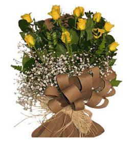 Düzce çiçek siparişi vermek  9 adet sari gül buketi