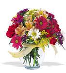 Düzce uluslararası çiçek gönderme  cam yada mika vazo içerisinde karisik kir çiçekleri