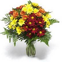 Düzce çiçek online çiçek siparişi  Karisik çiçeklerden mevsim vazosu