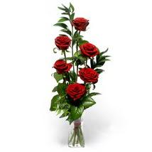 Düzce çiçek online çiçek siparişi  cam yada mika vazo içerisinde 6 adet kirmizi gül