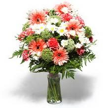 Düzce çiçek mağazası , çiçekçi adresleri  cam yada mika vazo içerisinde karisik demet çiçegi